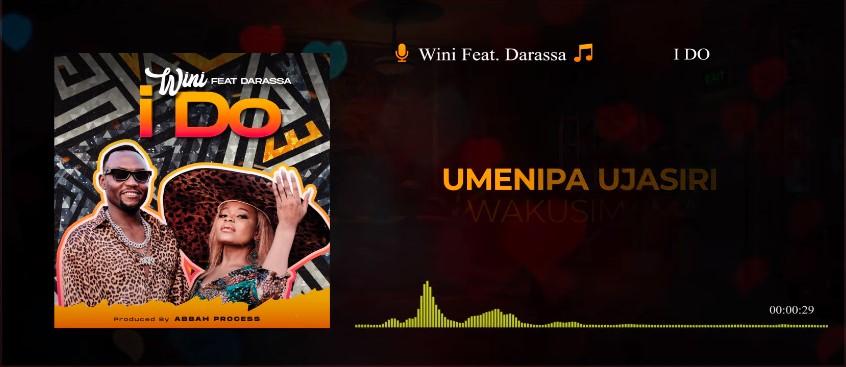 VIDEO   Wini Feat. Darassa – I Do (Lyrics Visualizer)